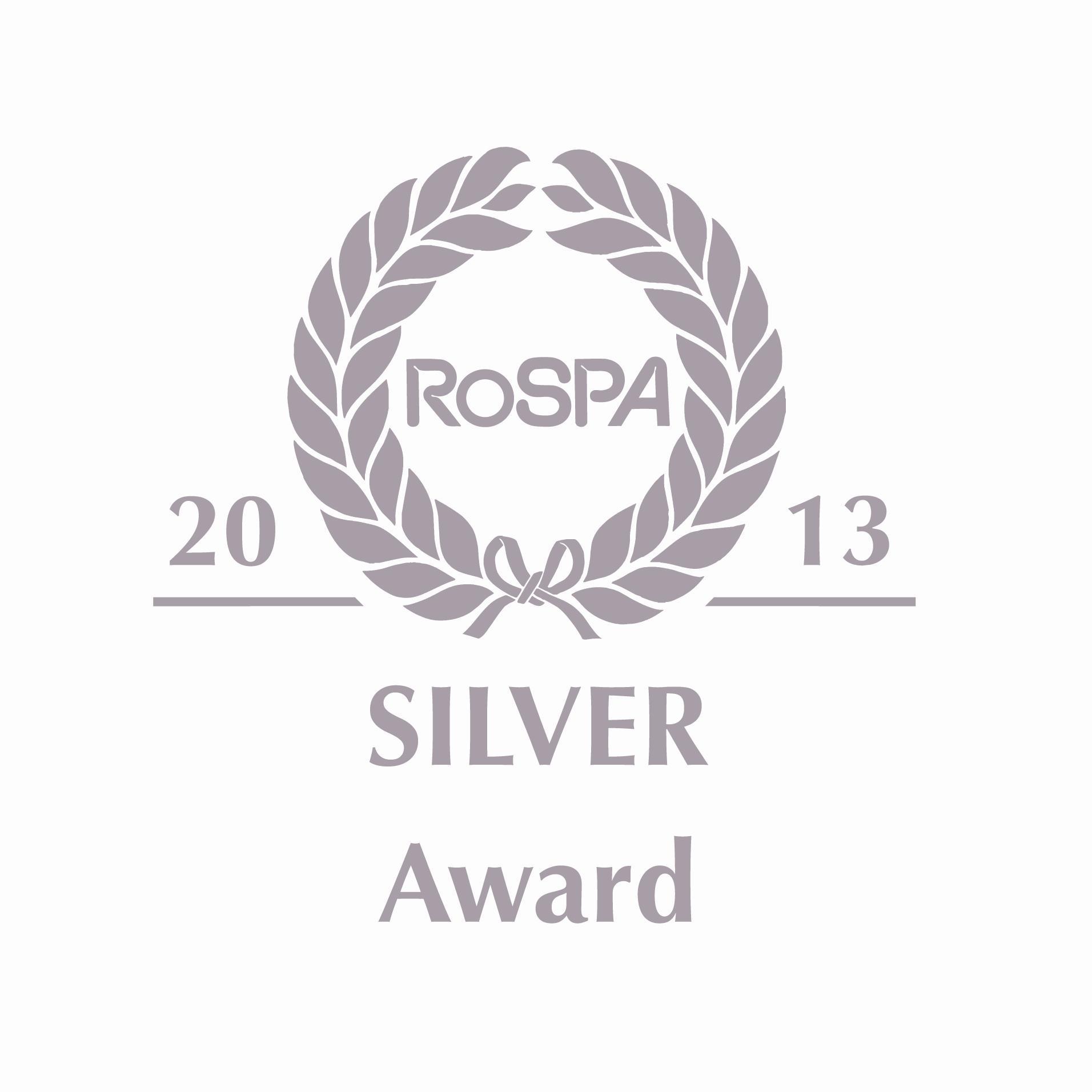 RoSPA_silver_award_2013